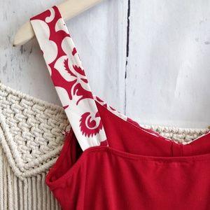 Nanette Lepore Tops - Nanette Leopore Red Ruffle Knot Tank Top M